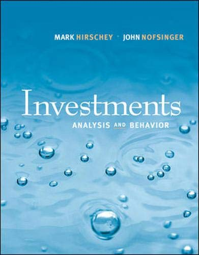 Investments: Analysis and Behavior with S&P bind-in: Mark Hirschey, John