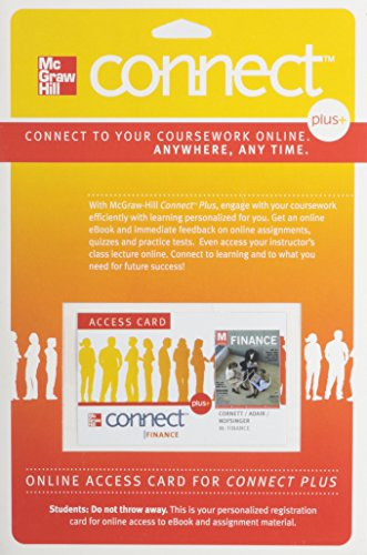 9780073311531: Connect Plus 1 Semester Access Card to accompany Finance