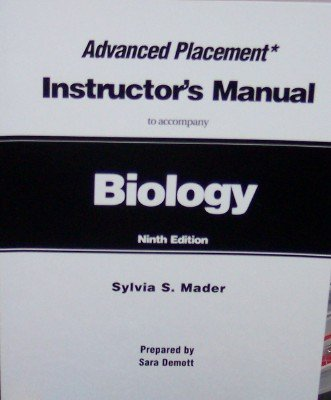 Biology: Instructor's Manual (to Accompany): Mader, Sylvia S.