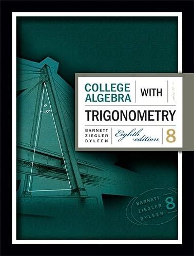 9780073312644: College Algebra with Trigonometry