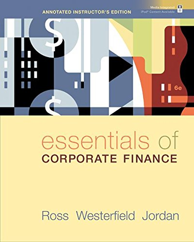 9780073313054: Essentials of Corporate Finance (Annotated Instructor's Edition)