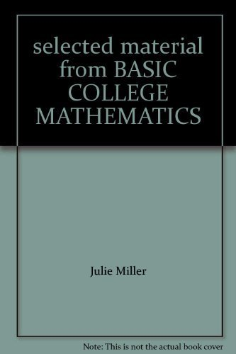 9780073313191: selected material from BASIC COLLEGE MATHEMATICS