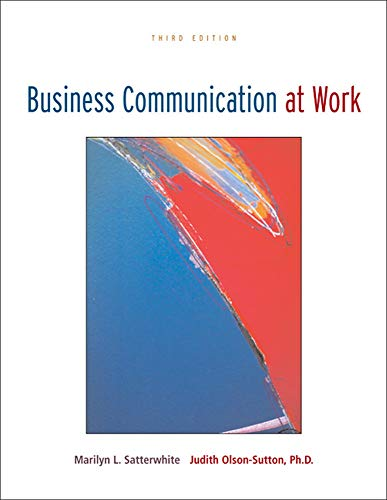 9780073314273: Business Communication at Work with OLC Premium Content Card (P.S. Business Communication)