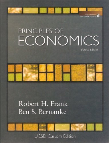 9780073314754: Principles of Economics: Custom Version Published for UCSD (Economic 1, 2, 3)