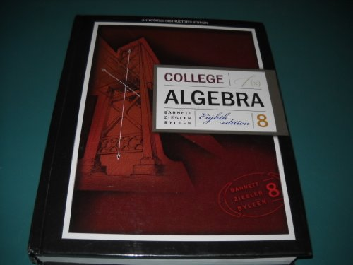 9780073315584: College Algebra Annotated Instructors ed