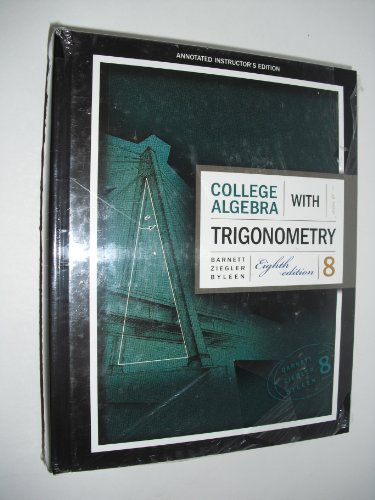 9780073315607: Annotated Instructors Edition of College Algebra With Trigonometry