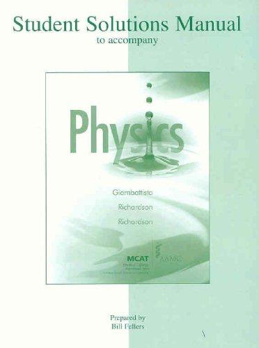 9780073316192: Student Solutions Manual to Accompany Physics