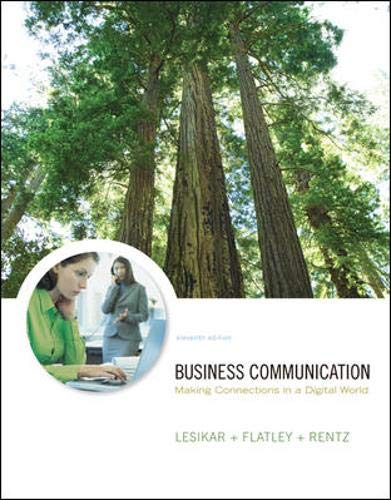 9780073317090: Business Communication: Making Connections in a Digital World