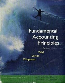 9780073320595: Fundmental Accounting Principles- Working Papers Vol 1 Chapters 1-12 (Vol 1 Chapters 1-12)