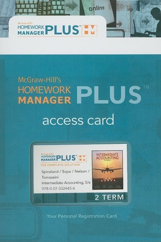 Homework Manager Plus Card to accompany Intermediate: Spiceland,J. David, Sepe,James,