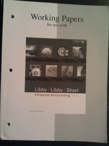9780073324968: Financial Accounting Working Papers (CUSTOM Sixth Edition)