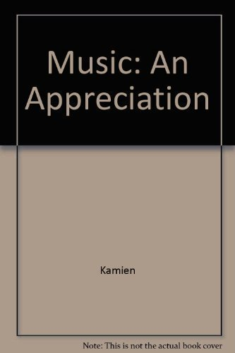 9780073326375: Music: An Appreciation, 6th Brief Edition - Annotated Instructor's Edition