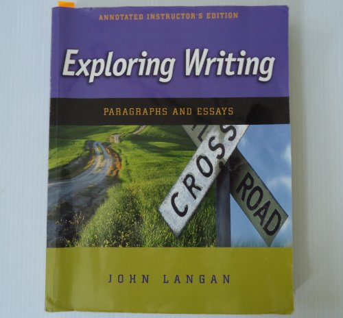 9780073327372: Exploring Writing: Paragraphs and Essays