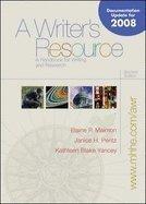 9780073327693: A Writer's Resource (spiral) - MLA / APA / CSE Update