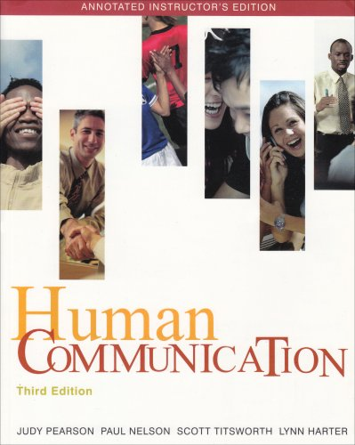 9780073328836: Human Communication, 3rd Ed. (Annotated Instructor's Edition)