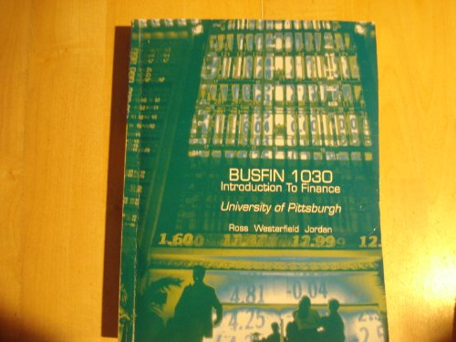 9780073330396: Busfin 1030 Introduction to Finance (University of Pittsburgh)