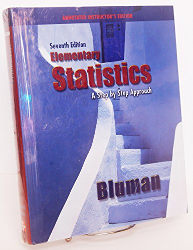 9780073331218: Elementary Statistics: A Step By Step Approach Instructor's Annotated Edition
