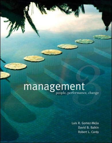Management with Online Learning Center with Premium: Gomez-Mejia, Luis, Balkin,