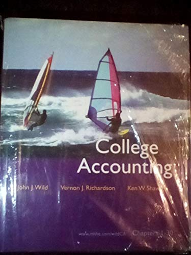 9780073336701: Electronic Study Guide & Working Papers Ch 1-30 to accompany College Accounting