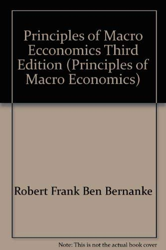 9780073336732: Principles of Macro Ecconomics Third Edition (Principles of Macro Economics)