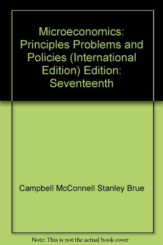 9780073336954: Microeconomics: Principles, Problems, and Policies