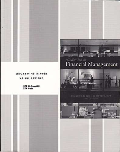 9780073337739: Foundation of Financial Management