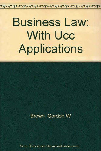 9780073341149: Business Law: With Ucc Applications