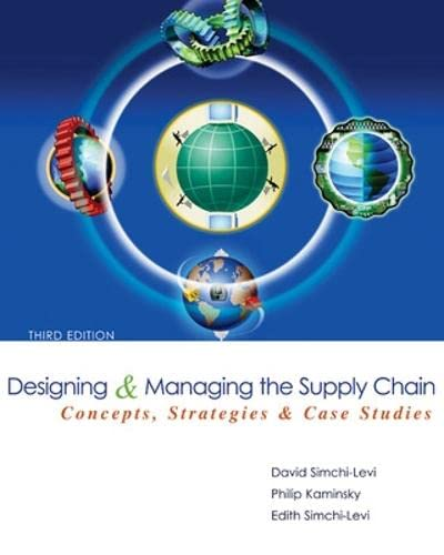 Designing and Managing the Supply Chain 3e