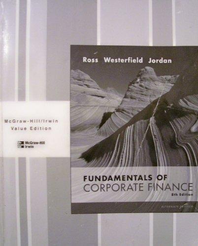9780073341897: Fundamentals of Corporate Finance 8th Edition Black/White Alternate Edition 2008