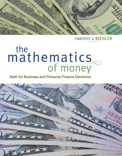9780073343273: Mathematics of Money with Student CD