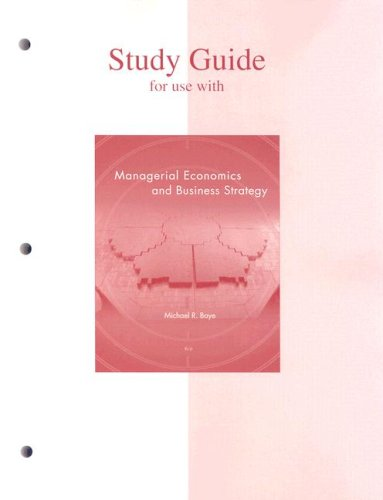 9780073343617: Study Guide to accompany Managerial Economics & Business Strategy