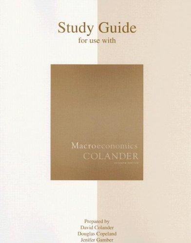 9780073343723: Macroeconomics Study Guide