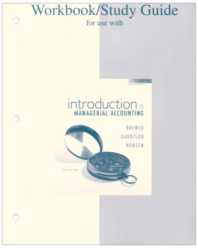 9780073344850: Workbook/Study Guide for use with Introduction to Managerial Accounting