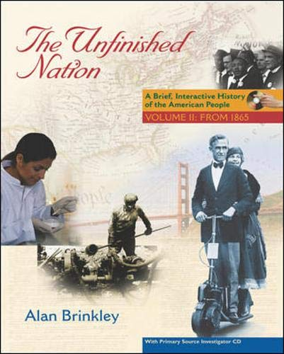 9780073345437: The Unfinished Nation: Brief, Interactive, with Primary Source Investigator Volume 2