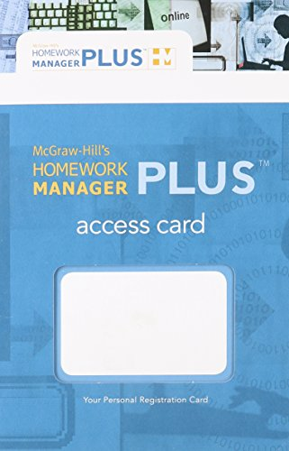 9780073346601: Homework Manager Plus Passcode Card to accompany Accounting: What the Numbers Mean