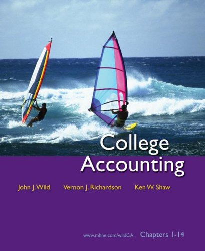 College Accounting Chapters 1-14 with Circuit City: Wild, John J.;Richardson,