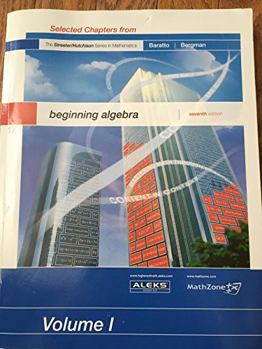 9780073348131: beginning algebra Volume 1 (1)