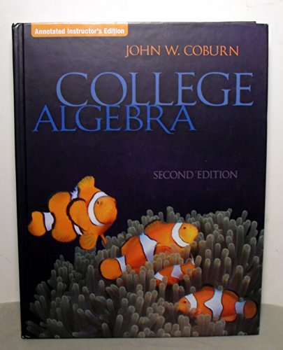 9780073349039: College Algebra, Annotated Instructor's Edition, 2nd Edition