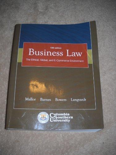 Business Law > CUSTOM<: Mallor