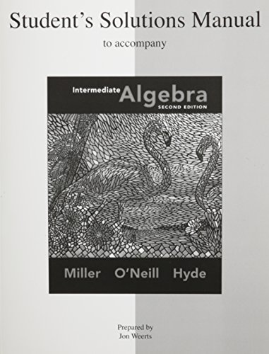 9780073352374: Intermediate Algebra (Student Solutions Manual)