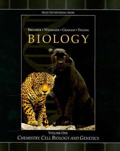 9780073353326: Selected Material from Biology, Volume 1: Chemistry, Cell Biology and Genetics
