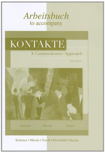 9780073355153: Workbook/Laboratory Manual to accompany Kontakte: A Communicative Approach