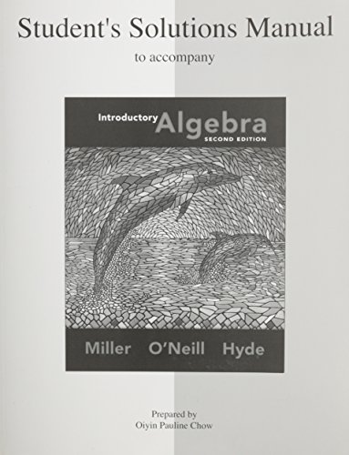 student solutions manual introductory algebra by julie miller rh abebooks com Differential Equations Student Solutions Manual Digital Designs