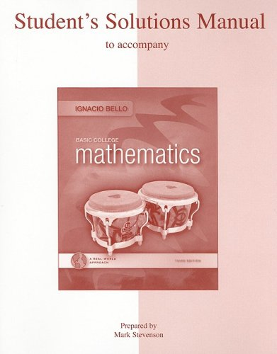 9780073357935: Student Solutions Manual for Basic College Mathematics: A Real-World Approach