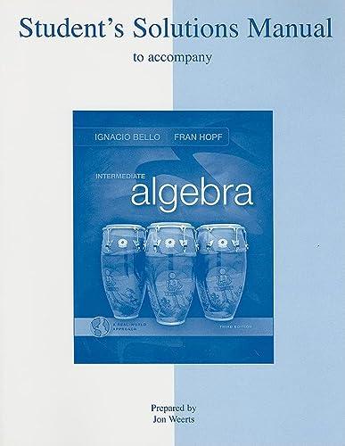 9780073357980: Student's Solutions Manual t/a Intermediate Algebra