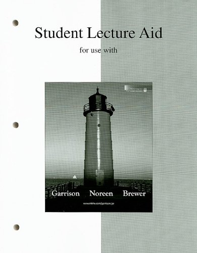 9780073359847: Student Lecture Aid for Use with Managerial Accounting