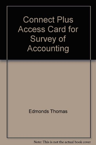 9780073360256: Connect Plus Access Card for Survey of Accounting