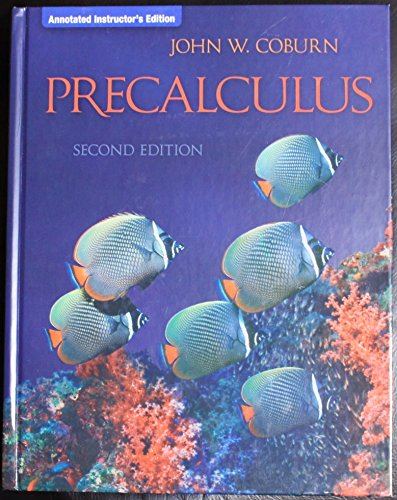 Precalculus, Annotated Instructor's Edition: Coburn, John W.