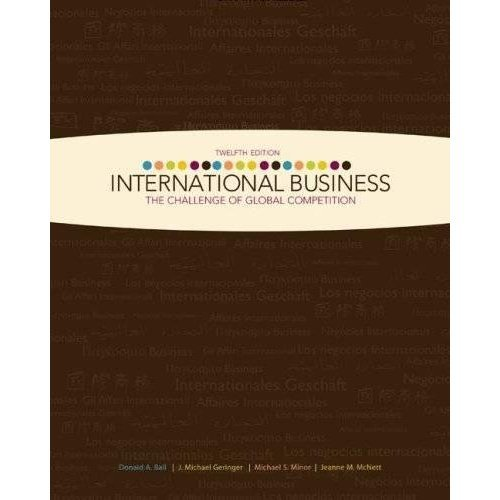 9780073361130: International Business : The Challenge of Global Competition