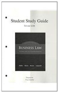 Student Study Guide to accompany Business Law: Mallor, Jane; Barnes,